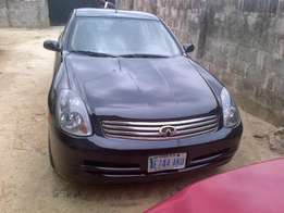 neatly used Infinity G35x saloon car 2003 model