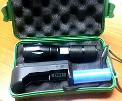 Flash light with charger and case