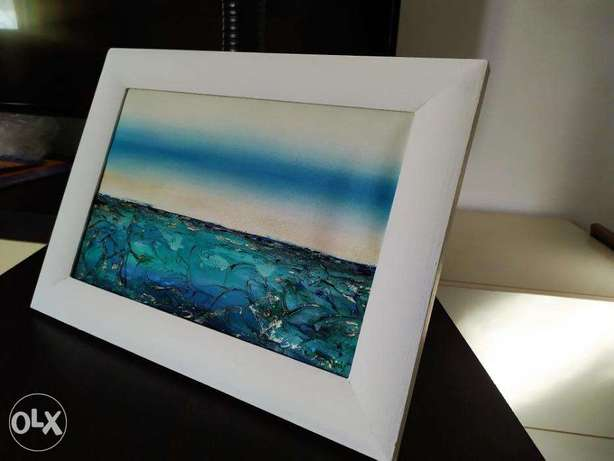 Textured seascape abstract
