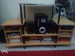 T. V stand and woofers