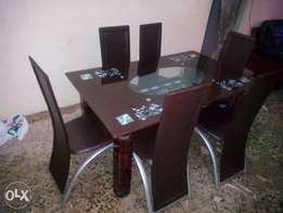 Brown Six-Seater Dining Table