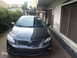 A very clean Tokunbo 2009 Toyota Corolla Sport Silver colour,