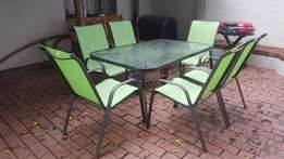 Green Smallish Patio Set