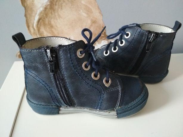 c8cd9f0d KORNECKI trzewiki buciki chłopięce półbuty granat 23 buty na wiosnę Gdańsk  - image 4