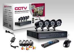 4 Channel cctv camera system kit at R1500 per system