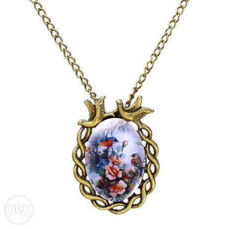 Women Vintage Floral Bird Statement Necklace Nairobi CBD - image 5