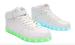 e18749d8655b4 Buty świecące LED - High Force - Białe Ledowe Podświetlane