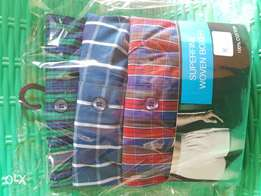100% cotton superfine woven boxers 3 in a pack