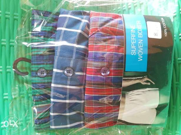 100% cotton superfine woven boxers 3 in a pack Ibadan South West - image 1