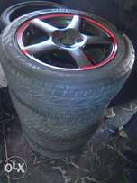 "15"" 5bar mags and tyres 4x100 pcd"