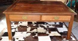 Four drawer French Oak Coffee Table NOW R3,800 Weekend only