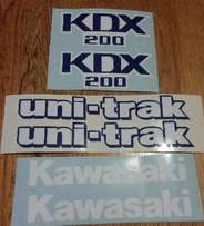 KDX 200 tank and side panel decals stickers - 1988 model