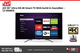 "JVC 55"" Ultra HD 4K Smart TV With build-in SoundBar"
