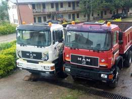 Man Diesel Tippers with Auxiliary