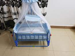 Baby cot with medium duty mattress