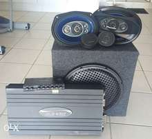 Pioneer car sound system plus amplifier and pre amp