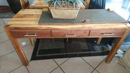 Server wood light 3 Drawers
