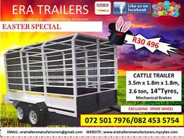 3.5m cattle trailer for sale sabs approved