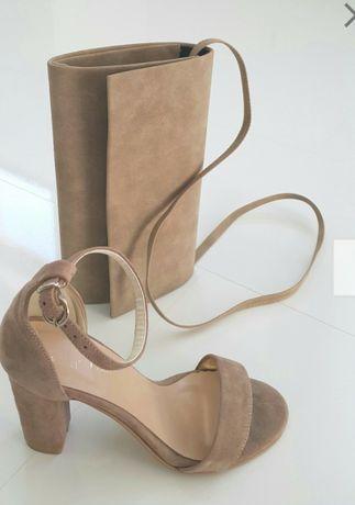 ce8d6daa17f6eb Skórzane sandały,słupek,szpilka, beżowe, nowe 38 Jasin - image 1