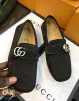 Coffee brown Gucci loafers shoe for men