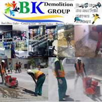 Concrete cutting, road/tar cutting, openings for doors, lift shafts