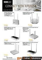 Various Totolink Routers and Range Extenders