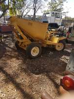 small 2 cub dump truck is in good condition and refurbished articulate