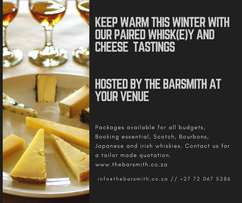 Paired Whiskey and Artisanal Cheese tastings - By The Barsmith