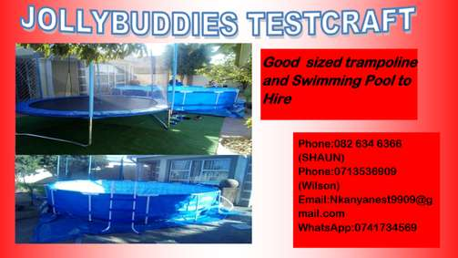 Swimming Pool And Trampoline To Hire