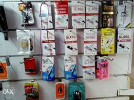 Screen protectors Glass for all phones from 300/-