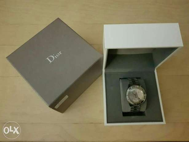 Christian Dior Crystal Chronograph Unisex Grey Ion Plated Steel Watch