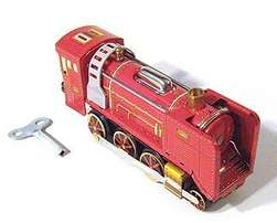 Vintage Red Tin Train Wind Up