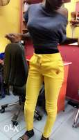 yellow sexy ass push up free Trouser for ladies