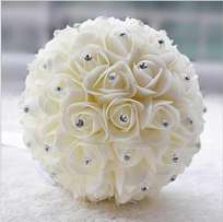 Beautiful White Ivory Artificial Wedding Bouquets Flower-506