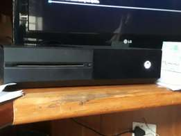 Xbox one with 2 controllers and a headset
