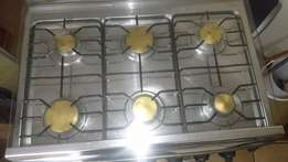 6 plate gas stove with gas bottel