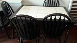 Dining 4seater top tiled