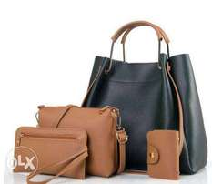Set of 4 in one ladies handbags