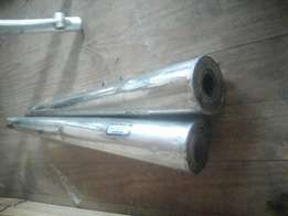 Durapipe stainless steel exhausts x2