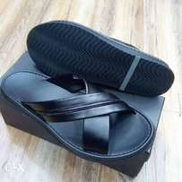 Criss-Cross Palm Slippers By Point Shoes