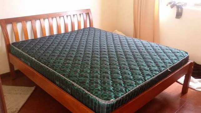 Wooden bed with mattress Ngara - image 3