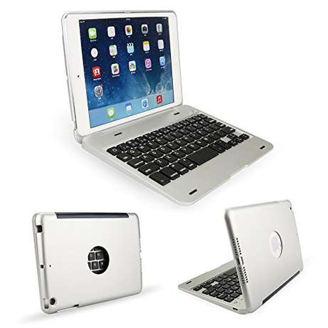 Bluetooth Wireless Aluminum Keyboard Cover for iPad mini 3 / mini 2 Ikeja - image 1