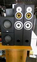 2bauerspeakers with 2subwoofer