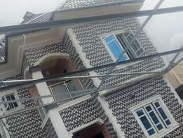 Executive Newly built 3bedroom flat all tiles pop ceiling at Peace Est