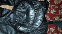 Motorcycle Cyclist Leather Suit. SWIFT Brand. Heavy Fully Loaded.