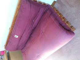 Futon and pine base - queen size