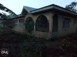 1 full plot of land with a 2 bedroom flat for sale at osiele