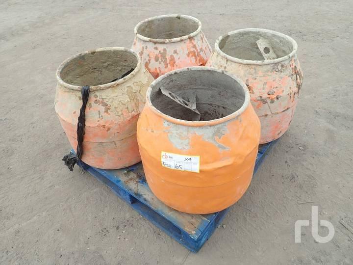 Quantity of 4 Mixer Drums