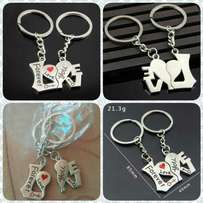 Metal couples love word key chain pendant Key Holder