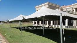 Waterproof Stretch Tents, Couches and Cocktail Furniture For Hire